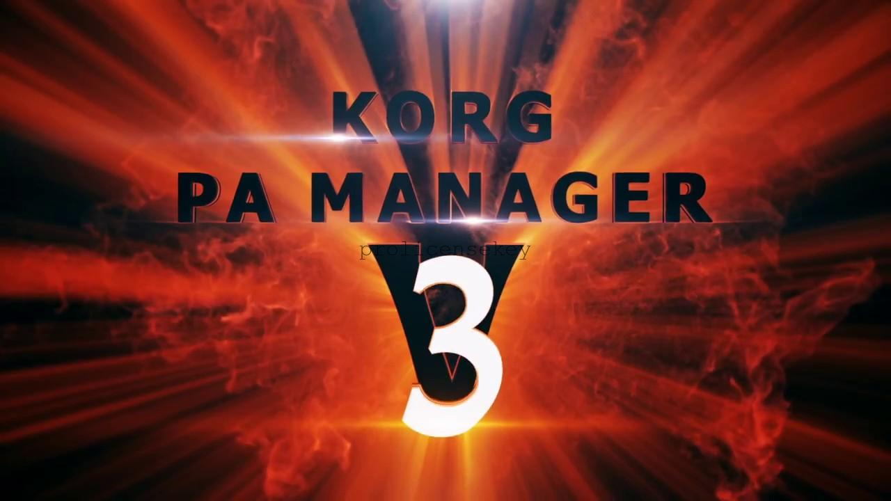 KORG PA Manager 3.3 Crack Full Activation Code Latest {Torrent}